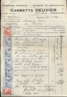 Factuur Facture Gambetta Deuvier - Bracquegnies 1934 - Factures & Documents Commerciaux
