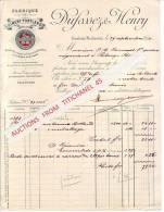 Facture De 1894 - CRONFESTU - MORLANWELZ - DUFOSSEZ & HENRY - Fabrique De Ciment Portland - Belgique