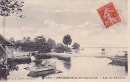21121 ARCACHON Et Ses Environs - Lac De CAZAUX - 134 Mlle J.L. Photo -barque - Texte Camp D'aviation, 1916