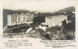 BELLE CPA 1900 : GRAND HOTEL DE CIMIEZ NICE J.A. CAVIER DIRECTEUR RESIDENCE DE LA REINE D'ANGLETERRE - Cafés, Hotels, Restaurants