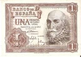 BILLETE DE 1 PTA DEL 22/07/1953 SERIE Z CALIDAD EBC+  (BANKNOTE) - [ 3] 1936-1975 : Régence De Franco