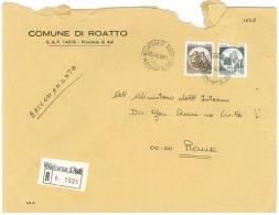 ROATTO  14018  ASTI   ANNO 1981 -  R  FTO18X24 - STORIA POSTALE DEI COMUNI D´ITALIA - POSTAL HISTORY - Affrancature Meccaniche Rosse (EMA)