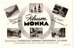 Buvard Rhum Monna, Le Havre - Vloeipapier