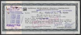 PAKISTAN Bank Deposit Certificate 50,000 Rupees NDFC 29-5-1989 - Bank & Insurance