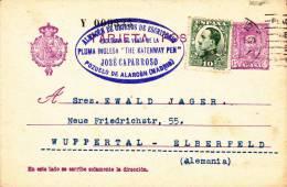 ESPAGNE - 1931 - CARTE POSTALE ENTIER De MADRID Pour WUPPERTAL