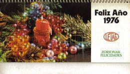 CALENDARIO SOBREMESA AÑO 1976 LETAG EN VASCO Kalender Calendrier Kalendar - Calendarios