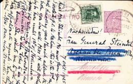 ESPAGNE - 1926 - CARTE POSTALE ENTIER De PONTEVEDRA Pour ASCHAU REEXPEDIEE à MÜNCHEN (GERMANY)