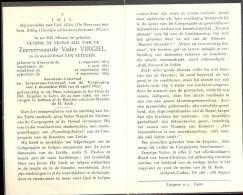Doodsprentje Pater Virgiel - Emiel Van Petegem - Assenede 1874 - Gent 1956 - Esquela