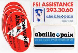 Autocollant Assurance - Abeille Paix X 3 (6) - Stickers