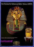 PUBLICITES GERMAN MAGAZINE ADVERTISEMENT RECLAME WERBUNG  For  AMUN  PARFUM  EGYPTIAN COLLECTION  From 4711  PERFUME - Werbung