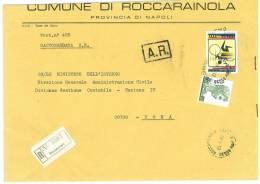 ROCCARAINOLA  80030  NAPOLI   ANNO 1980 -  R   FTO18X24 - STORIA POSTALE DEI COMUNI D´ITALIA - POSTAL HISTORY - Affrancature Meccaniche Rosse (EMA)