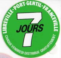Autocollant Média Presse - 7 Jours Libreville, Port-gentil, Franceville - Stickers