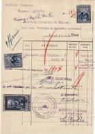 MARCHE DA BOLLO  /  FISCALI  SU DOCUMENTO _ Luogotenenza  -  Palermo 23 Agosto 1945 - Fiscaux