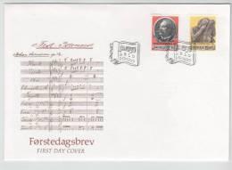 Norway FDC 5-10-1990 MUSIC JOJAN SVENDSEN With Cachet - FDC