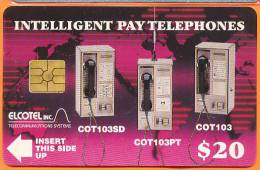 Belize - Elcotel Intelligent Pay Telephones, Trial Card, 20 Dollars, Used