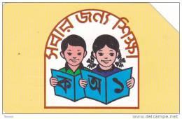 Bangladesh, BAN-05, 50 Units, Children Reading A Book (Large Magnetic Band), 2 Scans. - Bangladesh
