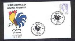 6,. ITALY ITALIA 2012. SPECIAL POSTMARK. ARTISAN POTTERY MARKET. CHICKEN. COQ - Arts