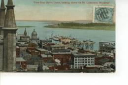 View From Notre Dame Looking Down The St.Lawrence Montreal 1912 - Montreal