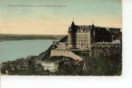 Chateau Frontenac From Laval University Quebec 1910 - Québec - Château Frontenac