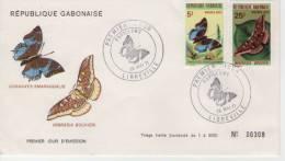 FDC  GABUN    Butterflies     /   GABON  Papillons  1971 - Schmetterlinge