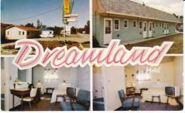 Melita Manitoba Canada, Dreamland Motel, Lodging, Interior Views '50s Decor, C1950s Vintage Postcard - Other