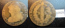 Francia Y Navarra , 2 Soles 1799 AA Luis XVI , France Et Navarre 2 Sous 1799 AA Louis XVI - 1789 – 1795 Monedas Constitucionales