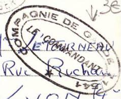 Cachet Double Couronne Ovale Compagnie De Garde 71/541 Le Commandant, A Circulé En 1956 En FM Sur CP D´Alger - Poststempel (Briefe)