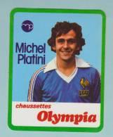FOOTBALL MICHEL PLATINI CHAUSSETTE OLYMPIA SPORT - AUTOCOLLANT - Autocollants