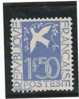 Colombe De La Paix. 1f50 Bleu Clair.  Très Légère Trace De Charnière. - Nuovi
