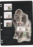 BURUNDI,2011, GORILLAS, 3v+ GORILLA SHAPED SHEETLET,MNH, NICE +RARE - Gorillas
