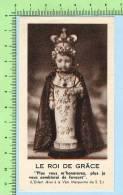 Tremblay Et Dion ( Petit Jésus  De Prague + Neuvaine  Canada  ) Holy Card Image Pieuse Santini - Images Religieuses