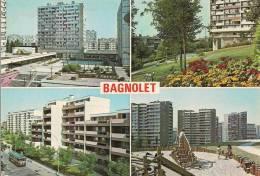 2415 - Bagnolet Piscine Municipale Place M.Thorez Square Pierre Curie Centre PMI Pierre Curie Ensemble HLM La Capsulerie - Bagnolet