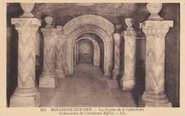 Ph-CPA Boulogne Sur Mer (Pas De Calais) La Crypte De La Cathédrale, Colonnades De L'ancienne Eglise, Petit Format - Boulogne Sur Mer