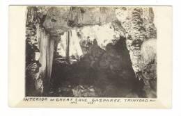 TRINIDAD  ( B.W.I. = British West Indies ) /  GASPAREE  /  INTERIOR  OF  GREAT  CAVE  /  Edit.  H.J.B. N° 1 - Trinidad