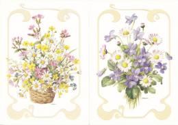 Lot De 6 Cartes  10 X 15 Sur Le Thème Des Fleurs - Arrangement Floral - B. Plantes Fleuries & Fleurs