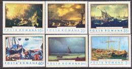 Romania  2262-7  *   ART  PAINTINGS  SHIPS - 1948-.... Republics