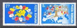 Romania  2435-6  *   EUROPA  MAP - 1948-.... Republics