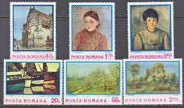 Romania  2468-73  *   ART  PAINTINGS - 1948-.... Republics