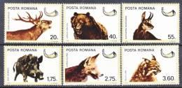 Romania  2644-9  *  FAUNA  HUNTING GAME - 1948-.... Republics