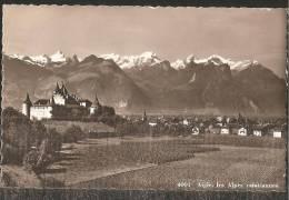 AIGLE Château Et Les Alpes Valaisannes 1931 - VD Vaud