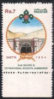 PAKISTAN 1994 MNH 2ND SAARC & 12TH NATIONAL SCOUT JAMBOREE BOY SCOUTS  ARCHITECTURE MOUNTAIN QUETTA - Pakistan