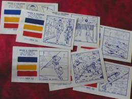 LOT 16 Images Diverses : Loterie Nationale 7 Images à Colorier, Carte Visite Champagne, Savon Cadum, Farine Jammet - Vieux Papiers