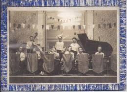 """POITIERS - Photo Sous Cadre - Orchestre De Jazz à  """" LA COUPOLE """" - Saison 1936 - 1937 (scan Verso ) - Poitiers"""