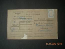 SN  412   CLESSE 79     NEUVY BOUIN  79  CARTE DE RAVITAILLEMENT  GUERRE  39/45 - Marcofilie (Brieven)