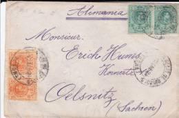 ESPAGNE - 1924 - ENVELOPPE De SAN FELIU DE GUIXOLS Pour OELNITZ (GERMANY) - Covers & Documents