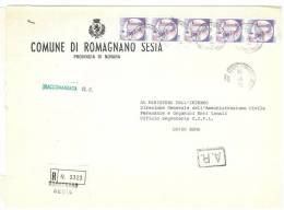 ROMAGNANO SESIA  28078  NOVARA  ANNO 1981 -  R  FTO18X24 - STORIA POSTALE DEI COMUNI D´ITALIA - POSTAL HISTORY - Affrancature Meccaniche Rosse (EMA)