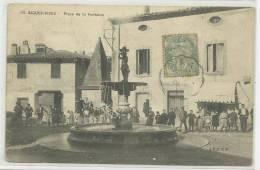 AIGUES VIVES (GARD - 30) - CPA - PLACE DE LA FONTAINE - Aigues-Vives