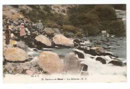 CPA : 38 - Isère : Mens : Les Gillardes : Personnes Sur Des Rochers Près D'un Cours D'eau ( Colorisée) - Mens