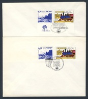 Israel 1977 2x Cover Brief Enveloppe  - Oron - Har Tsin - 13.12.1977 + Haifa 14.12.1977 / Railway / Eisenbahn - Treinen