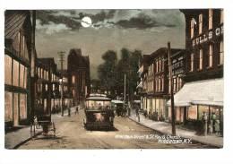 CPA : Etats - Unis : New York : West Main Street & St Paul Church : Middeltown : Dessin : Tramway , Calèche ... - New York City
